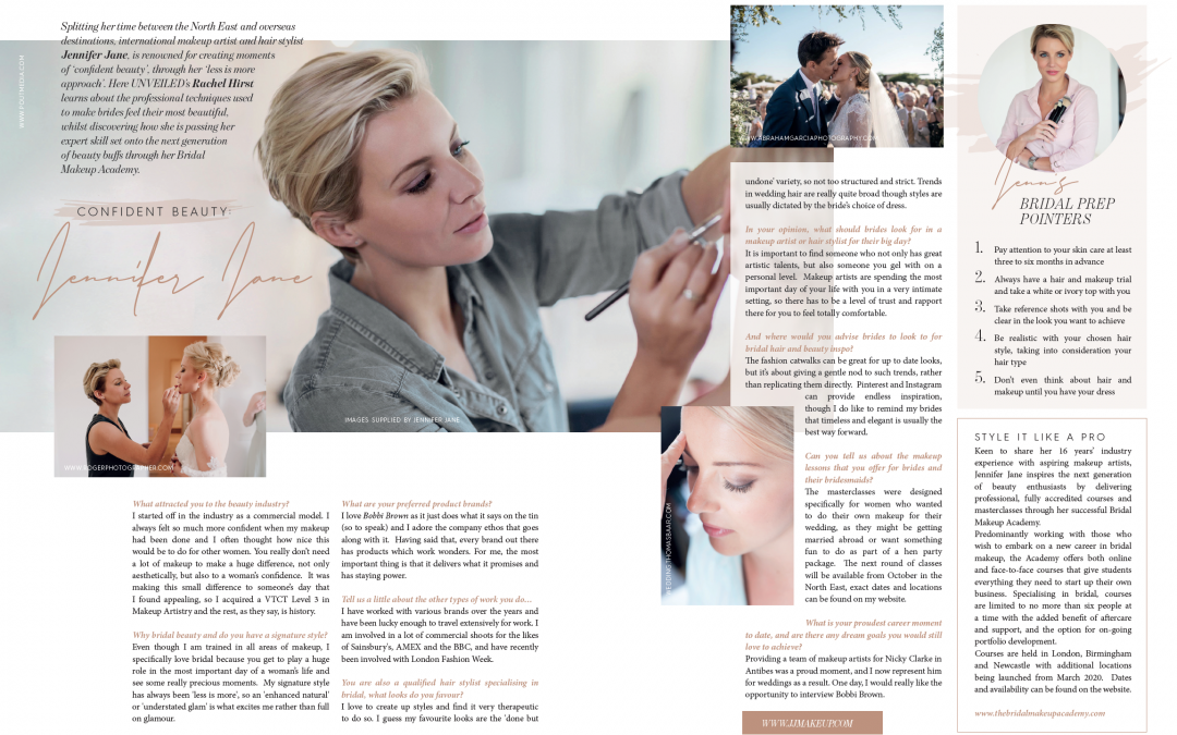 Unveiled Magazine interview with Makeup Artist Jennifer Jane