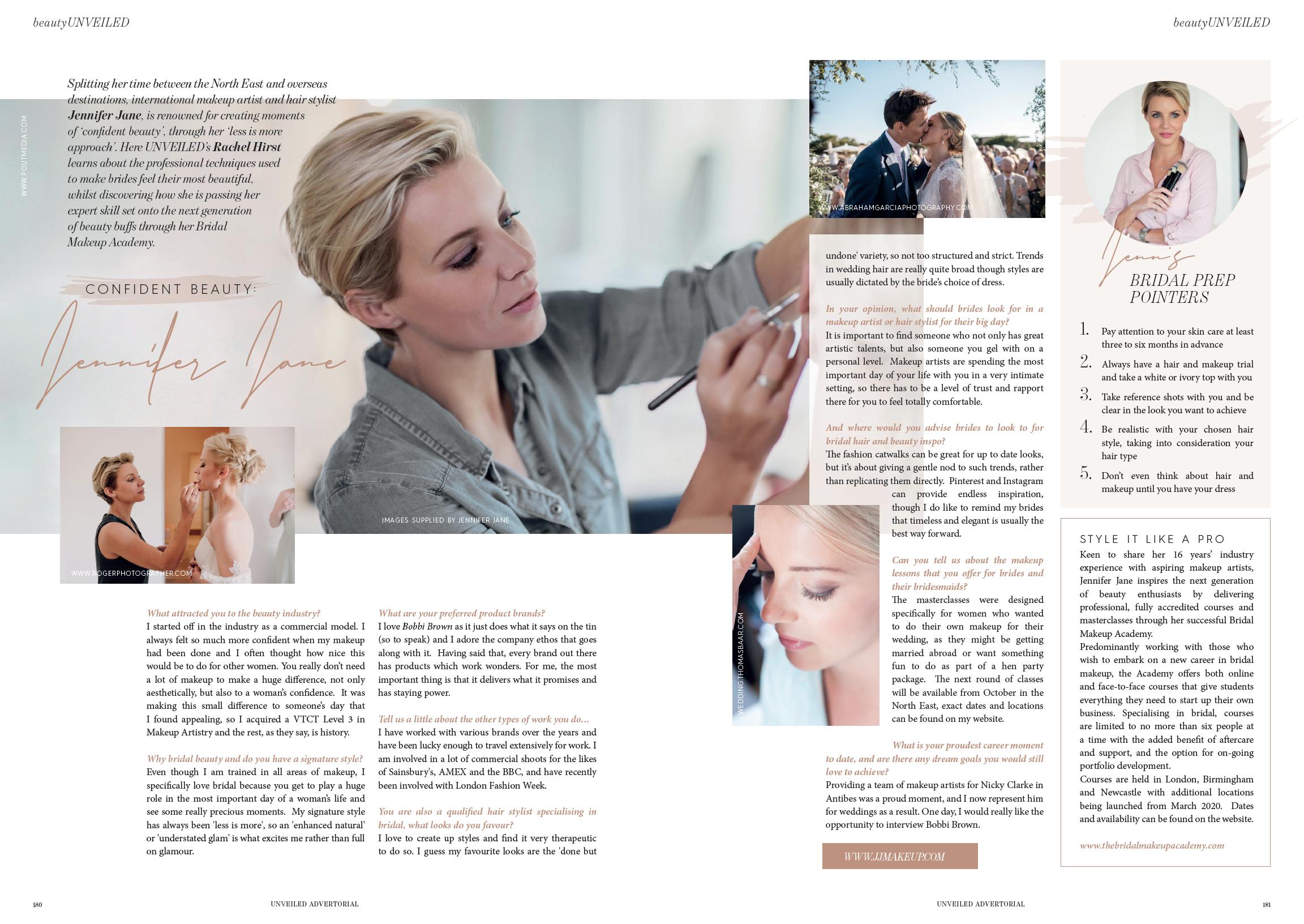 Unveiled Magazine interview with Makeup Artist Jennifer Jane